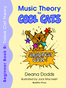 Music Theory for Cool Cats Beginner Book B, Treble Clef Theory