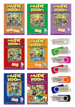 Music Room Books with USB