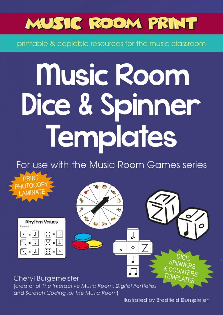 Music Room Dice and Spinner Templates