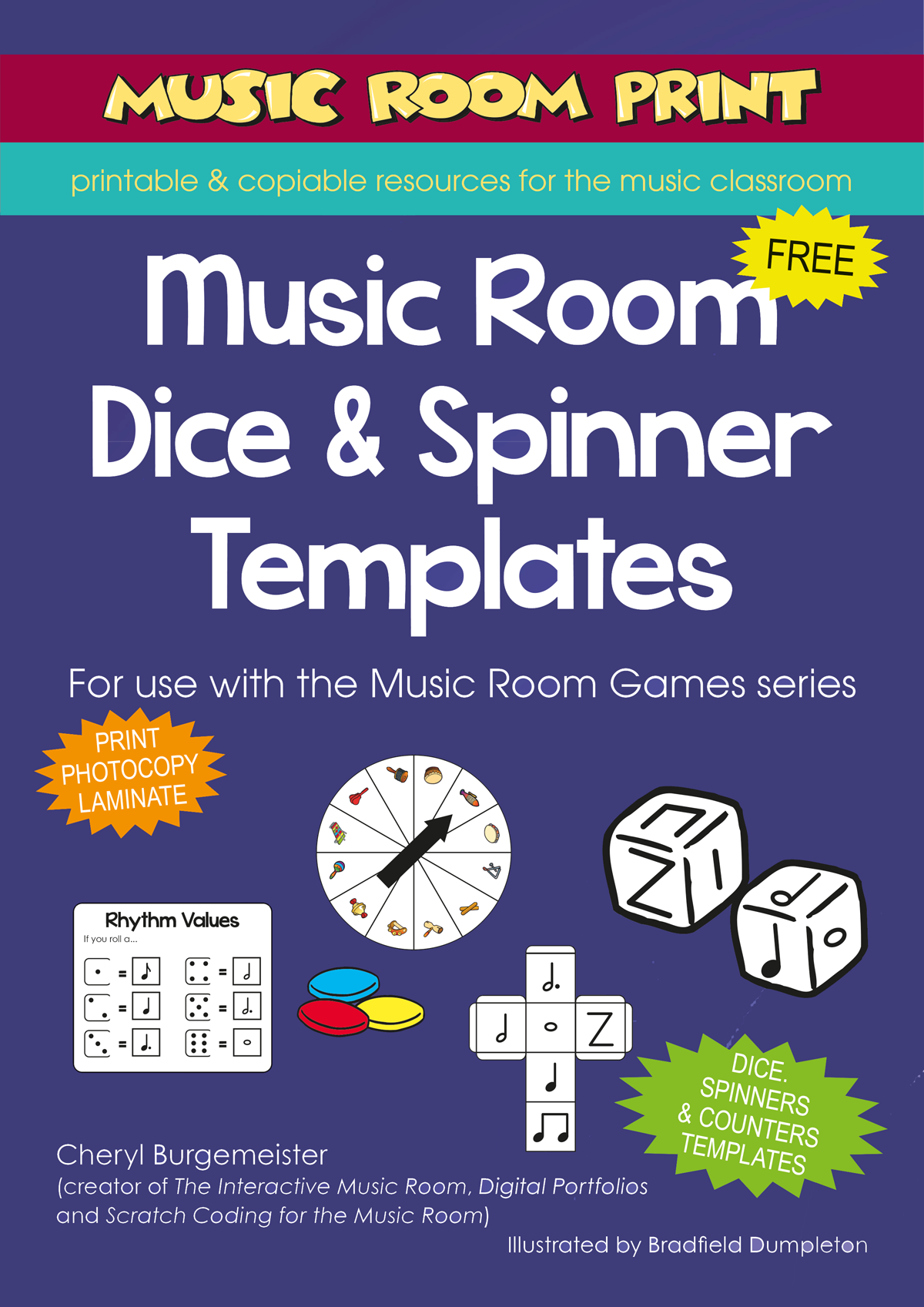 Music Room Dice Templates Free