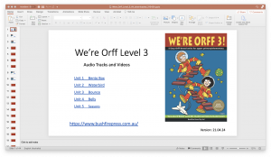 We're Orff 3 Powerpoint Contents