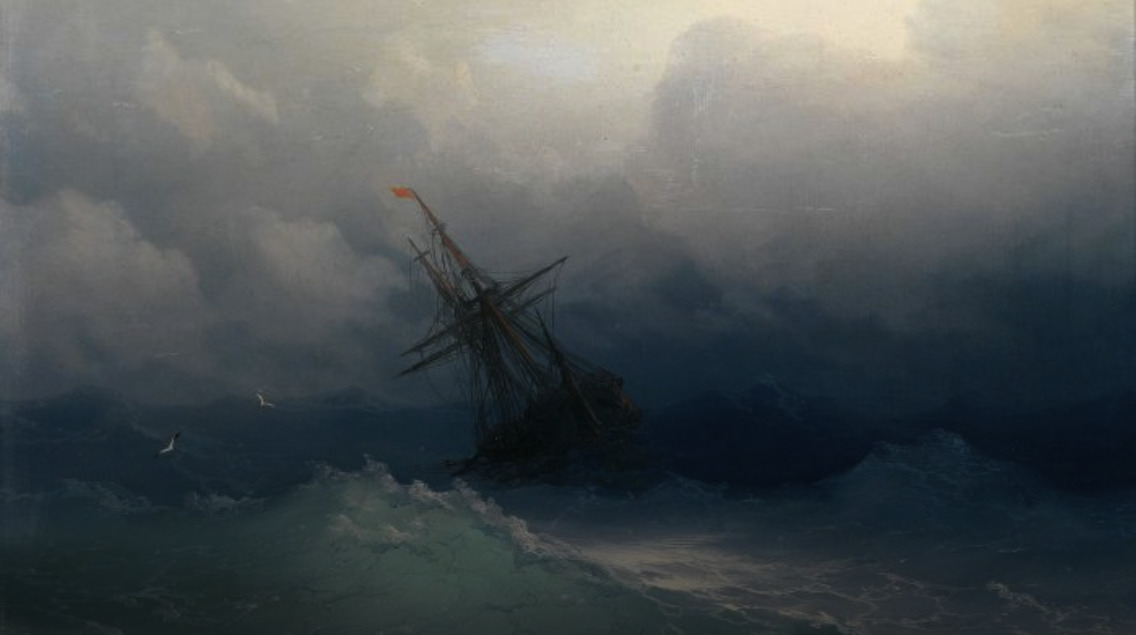 Shanties Ship in a storm